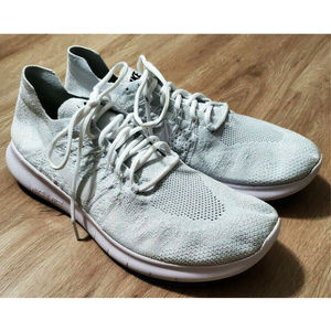 Nike Mens Free Run Flyknit 2 Gray Sneakers Size 14
